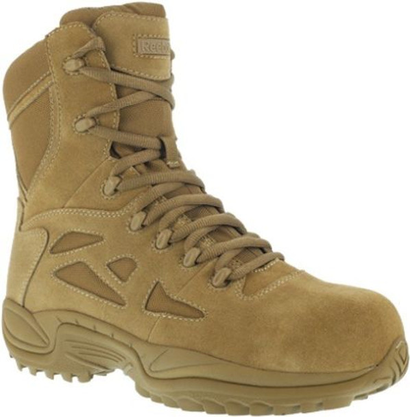 """Reebok RB8850 Men's Stealth 8"""" Rapid Response RB Coyote Boots"""