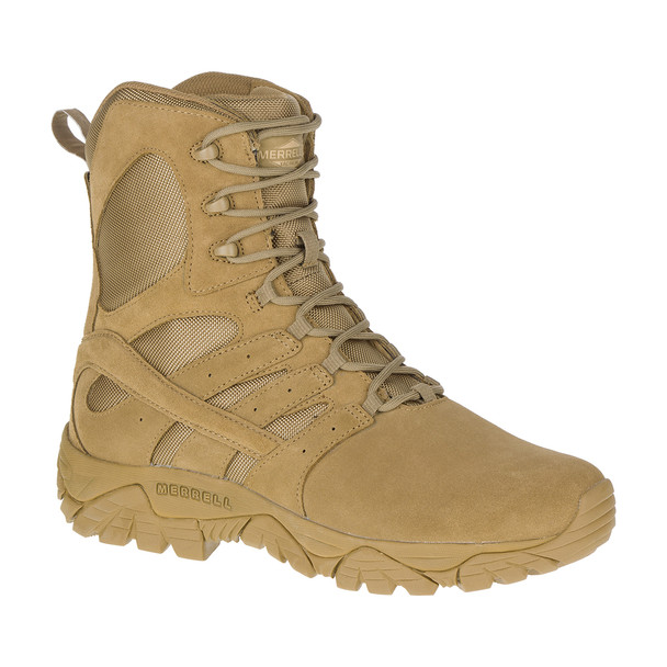 "Merrel J17765 MOAB 2 Men's Tactical Defense Waterproof 8"" Coyote Boots"