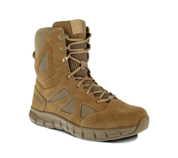 "Reebok RB8808 Men's Sublite Cushion Tactical 8"" Coyote Boots"