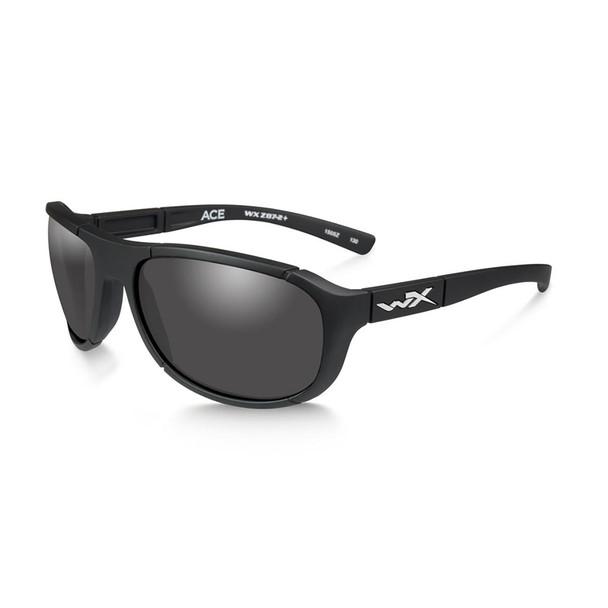 Wiley X ACACE01 Ace Grey Lens/Matte Black Frame Ballistic Sunglasses