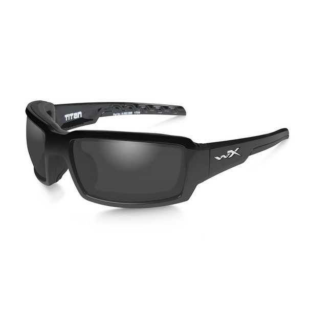 Wiley X CCTTN08 Titan Grey Lens/Gloss Black Frame Ballistic Sunglasses