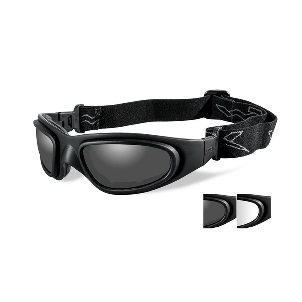 Wiley X SG-1-71 Grey/Clear Lenses Matte Black Frame Tactical Goggles