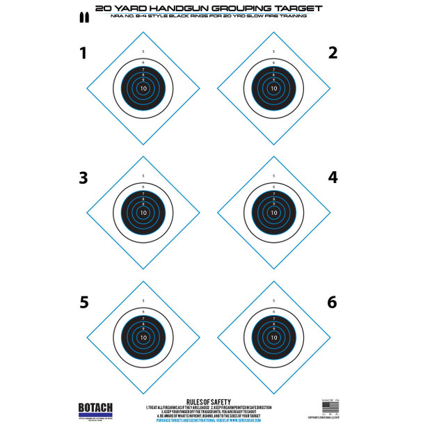 Botach Shooting Targets 3/Pack