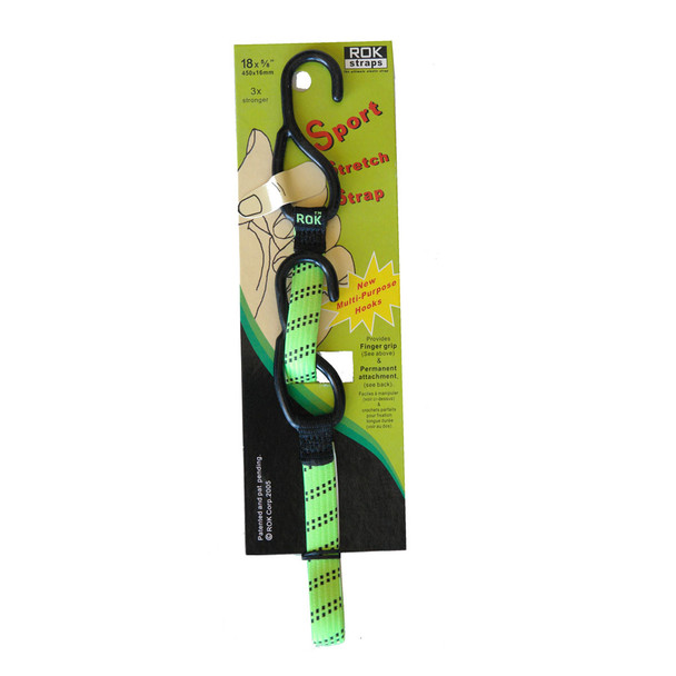 "ROK Straps 18""x 5/8"" Lime Green Sports Strap 3/Pack"
