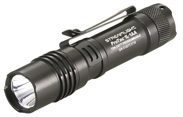 Streamlight  ProTac 1L Super Bright Dual Fuel Ten Tap Programmable Flashlights w/2 Batteries Black