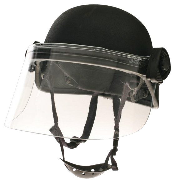 Paulson DK5-H.150 Short Military Police Riot Face Shield .150 Thick