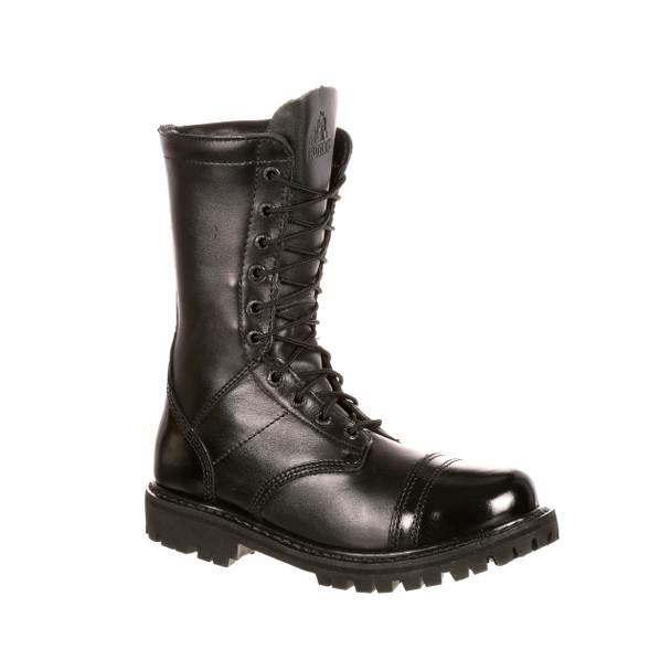 Rocky 4090 Womens Jump Boot 10 in. Boots w/Side Zipper BLACK