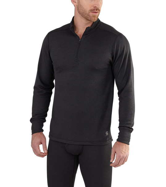 Carhartt Men's Base Force Extremes Cold Weather Black Quarter Zip Jacket