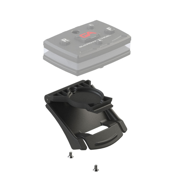 Snap close clip mount that can be screwed into the bottom of the device. Clip attaches to straps and epaulets to provide extra security. For Elite Series only.