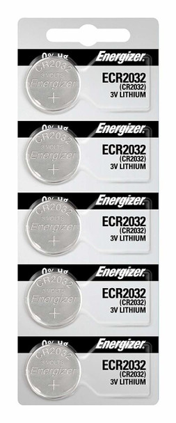 Energizer CR2032 Lithium 3v Batteries 5/Pack