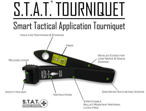 Smart Tactical Application Tourniquet w/Timestrip Timer