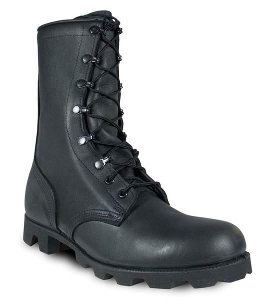 McRae 6189 Black All-Leather Combat Boot w/Panama Sole