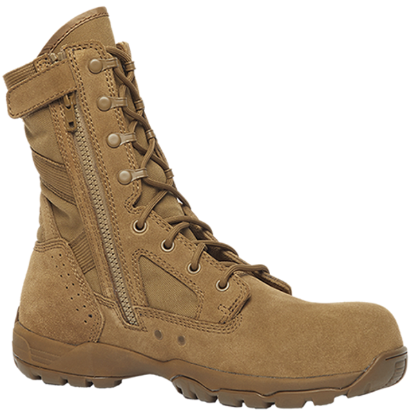 "Belleville FLYWEIGHT TR596Z CT 8"" Hot Weather Lightweight Side-Zip Composite Toe Coyote Boots"