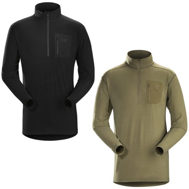 ArcTeryx Mens Cold WX AR Wool Zip Neck Shirt