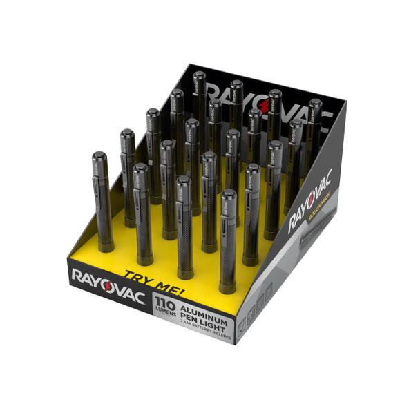 Rayovac RNPN2AAA-B Roughneck 2 AAA LED Aluminum Pen Lights 20/Pack