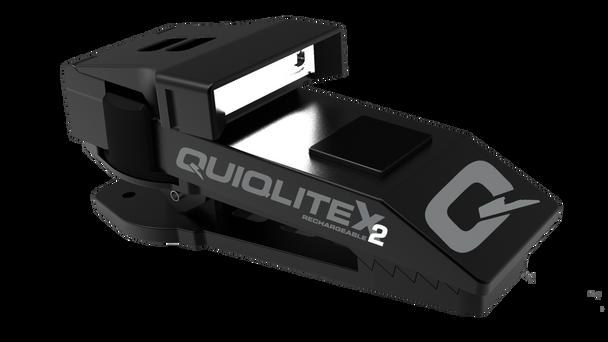 QuiqLite X2 Tactical Aluminum USB Rechargeable Clip Flashlight