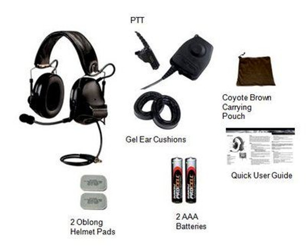 3M Peltor SWAT-TAC 3 Single Comm Headset Kit