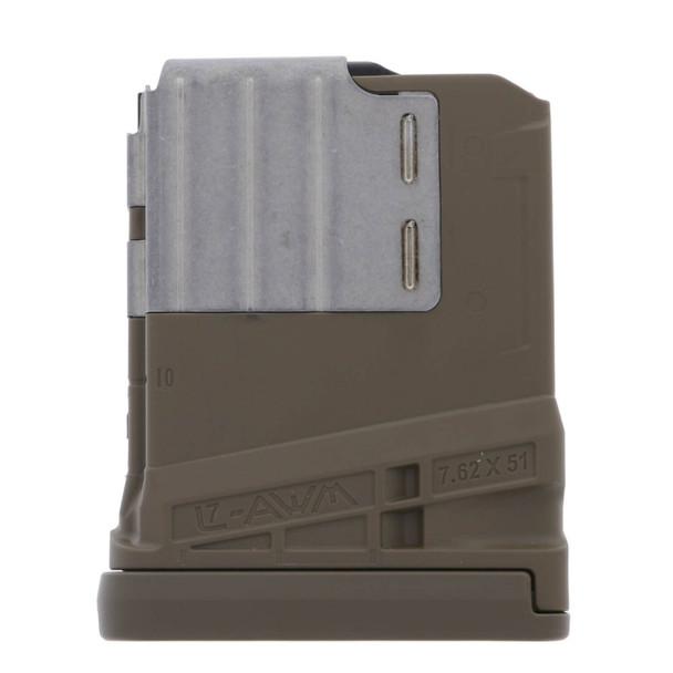 Lancer L7AWM 7.62mm 10rd Magazines 10 Opaque FDE