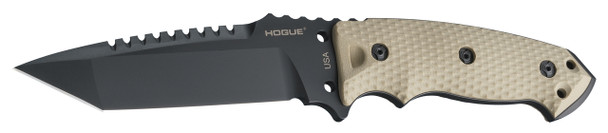 "Hogue EX-F01 A-2 Steel Tanto 5.5"" Flat Dark Earth Fixed Blade Knives"