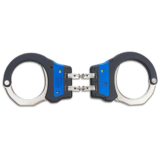 ASP Identifier Hinge Ultra Steel Handcuffs Blue