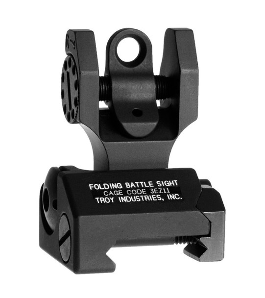Troy M4 Flip-Up Battle Sights Rear / Black