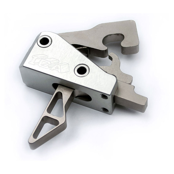 ICA Match Grade Single Stage Drop In AR Triggers Flat /  Skeleton Nickel