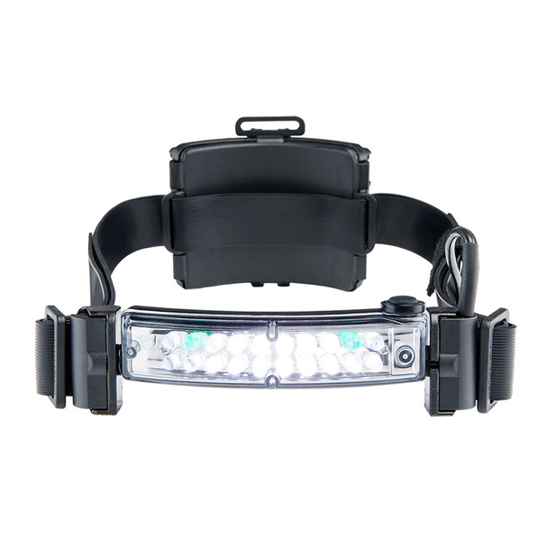 Fox Fury Command+ LoPro White & Green LED Rechargeable Headlamp/Helmet Lights