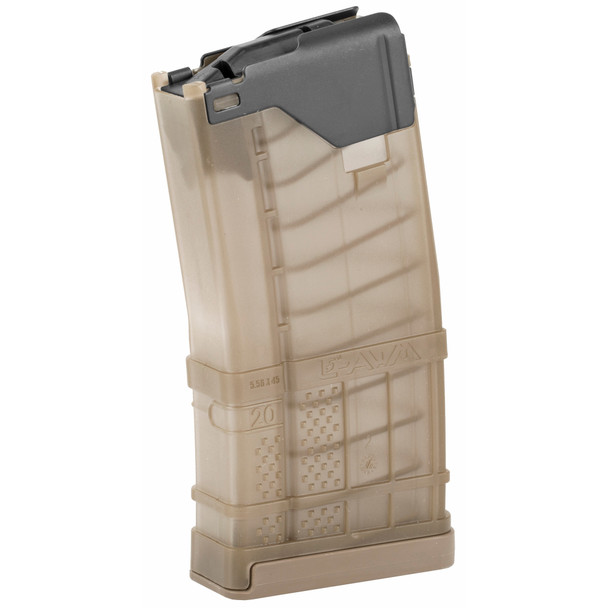 Lancer L5AWM Translucent 5.56mm Magazines 20rd / FDE