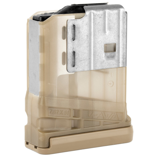 Lancer L7AWM Translucent 7.62mm Magazines 10rd / FDE