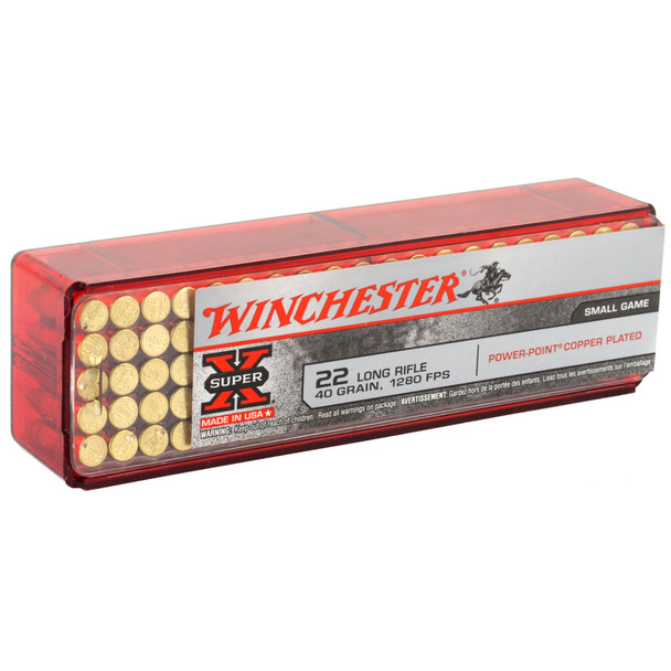 Winchester Super-X 22LR 40gr Power Point Copper Hollow Point Ammunition 100rd