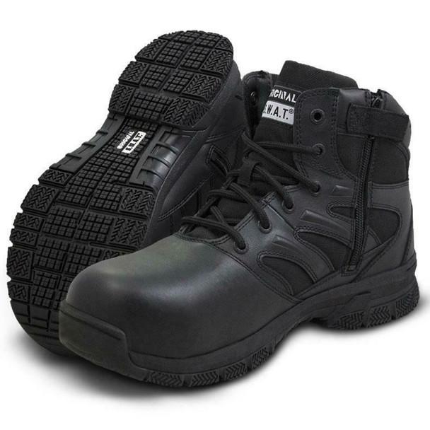 "Original SWAT 153101 Force 6"" Side-Zip Black Boots"