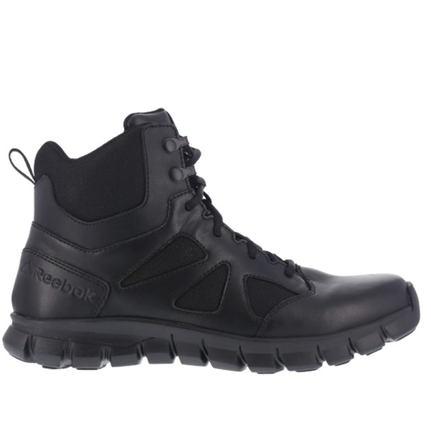 """Reebok RB086 Women's Sublite Cushion 6"""" Tactical Side Zip Boots"""
