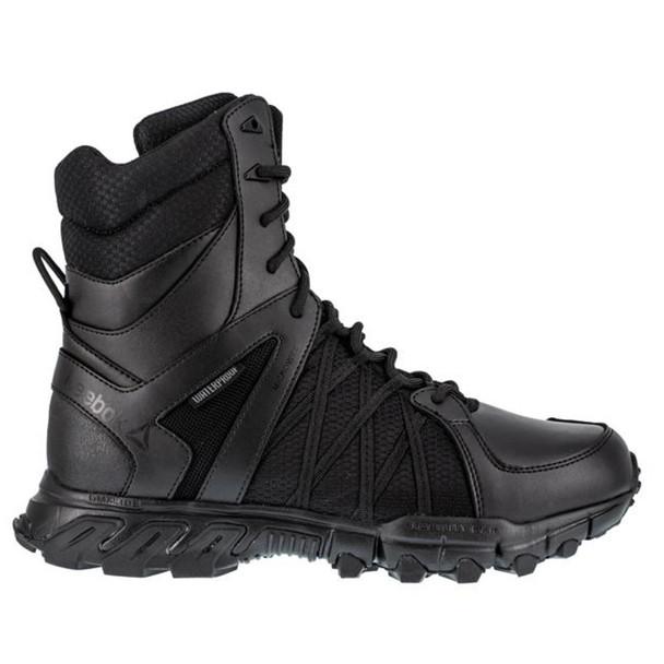 """Reebok RB3455 Men's Trailgrip 8"""" Waterproof Tactical Side Zip  Boots"""