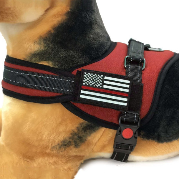 Thin Red Line Dog Harness