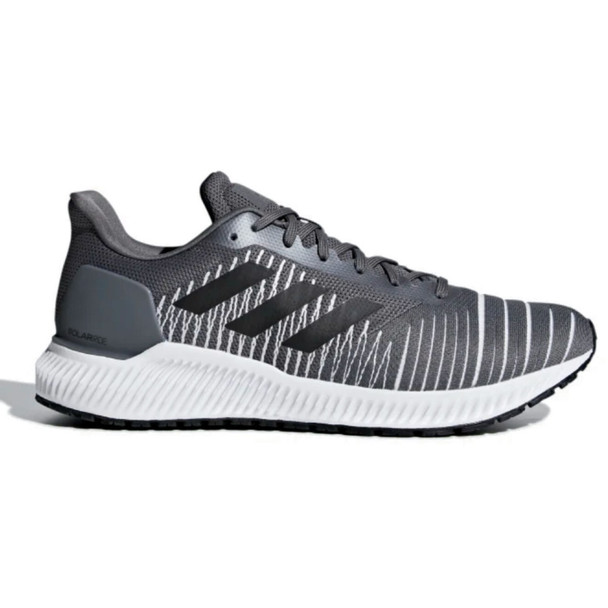 Adidas F37056 Men's Running Solar Ride Shoes, Grey/Core Black/Legend Ink