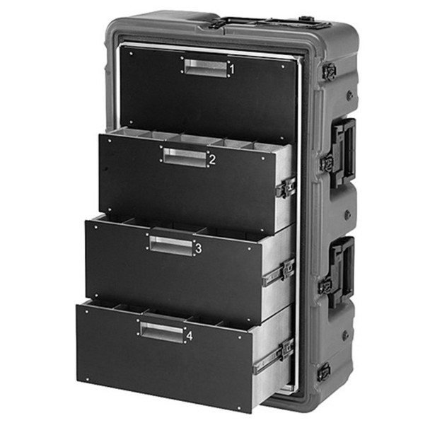 Pelican 472-MEDCHEST3-4D Medical Supply Case w/ Drawers, Black - Open Box Display Model