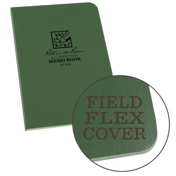 """Rite In The Rain 3.5""""x5"""" Memo Notebook, Green"""