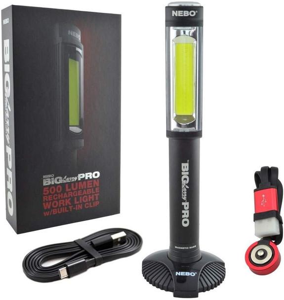 Nebo Big Larry Pro 500 Lumen LED Flashlight w/ Magnetic Base