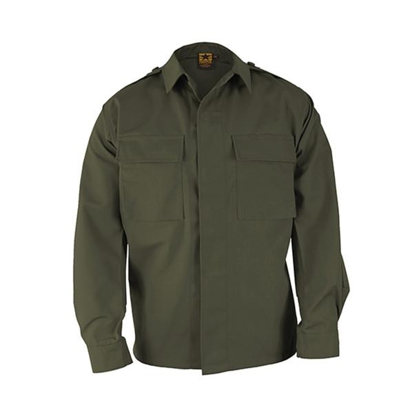 Propper F545238330 BDU Ripstop Long Sleeve 2-Pocket Shirt, Olive