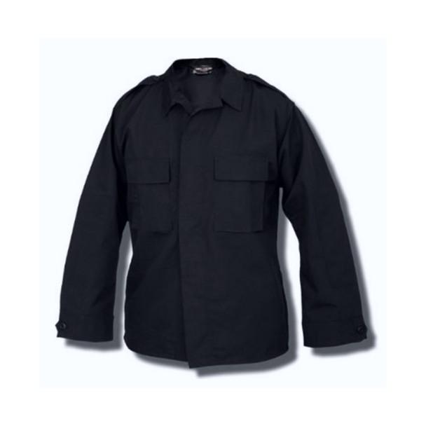 Tru-Spec 1481 Long Sleeve Tactical Shirt 65/35 Vat Dyed Cotton Twill, Midnight