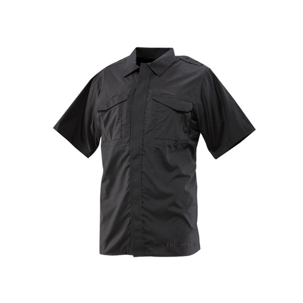 Tru-Spec 1080 24-7 Atlanco P/C Rip Stop Short Sleeve Shirt, Black