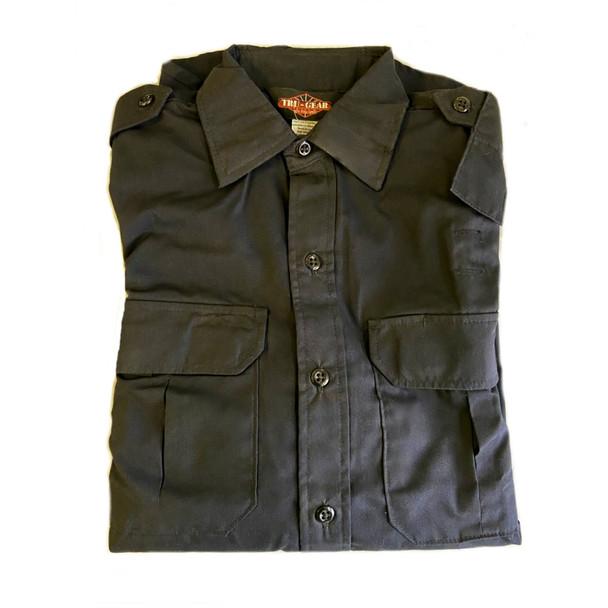 Tru-Spec 1476 Long Sleeve Tactical Dress Ripstop Shirt, Midnight