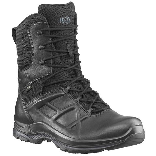 "Haix Men's Black Eagle Tactical 2.0 GTX High Side Zip Waterproof 8"" Boots"