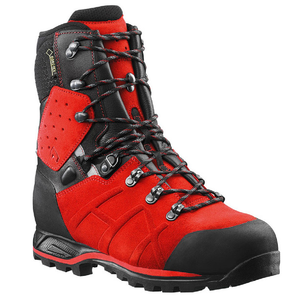 "Haix Protector Ultra Signal Red Waterproof 8"" Boots"