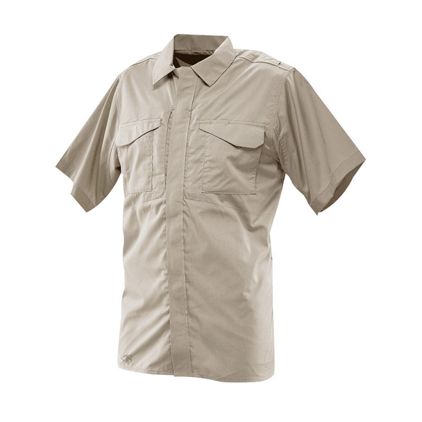 Tru-Spec 1083 24-7 Series Poly Cotton Ripstop Short Sleeve Shirt, Khaki