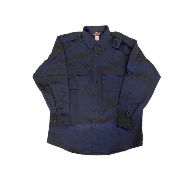 Tru-Spec 1471 TRU Long Sleeve Ripstop 2 Pockets Dress Shirt, Dark Navy
