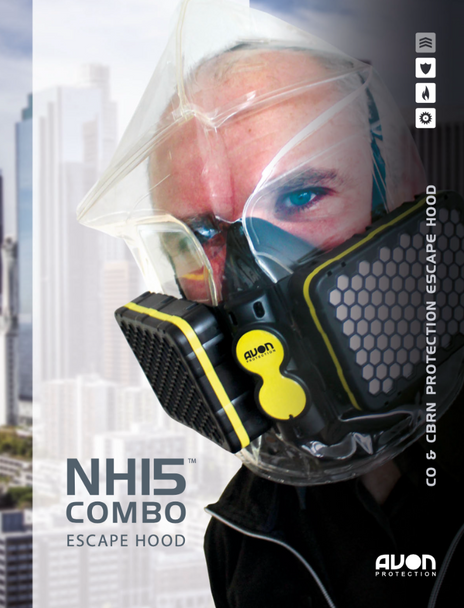 AVON NH15 Combo CBRN Emergency Escape Hoods For Chemical, Biological, Radiological , Nuclear Threats & Carbon Monoxide