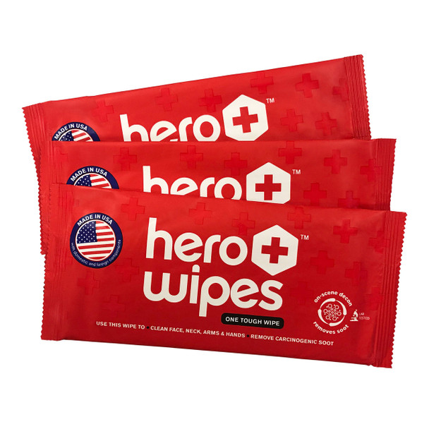 Hero Wipes Lead & Carcinogenic Soot Decontamination Wipes Individually Wrapped 24pk