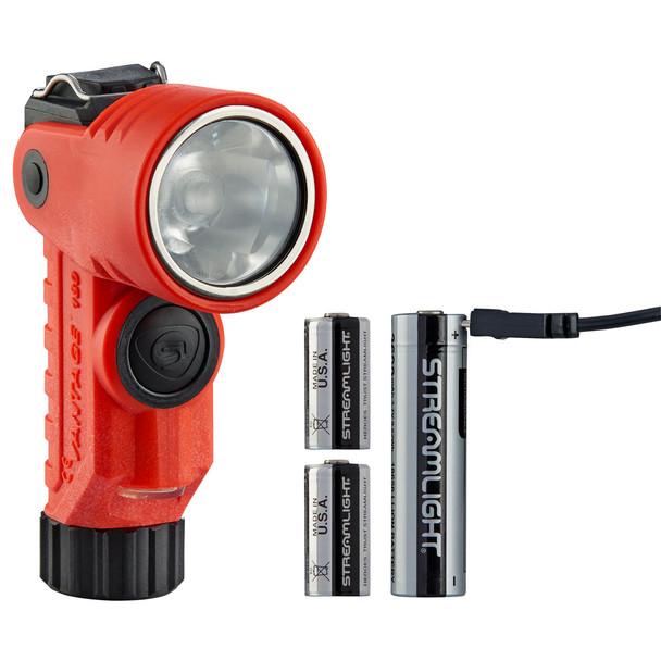 Streamlight Vantage 180 X USB Multi-Fuel Multi-Function Helmet/Right-Angle Flashlight Orange