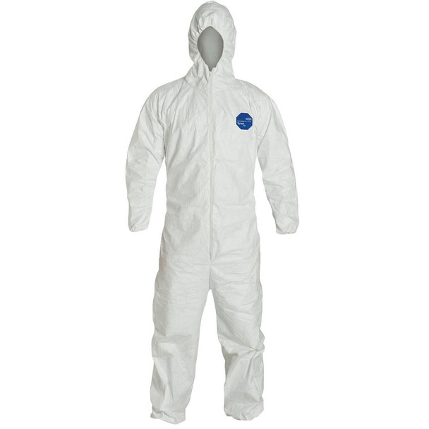 Lakeland 01428 Tyvek White Coveralls, Box of 25